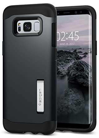 the best attitude 8fed1 05bda Spigen 571CS21121 SLIM Armor Galaxy S8 PLUS Metal Slate