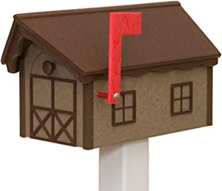 product image for Recycled Poly Plastic Barn Mailbox USA Handmade (Weatherwood)
