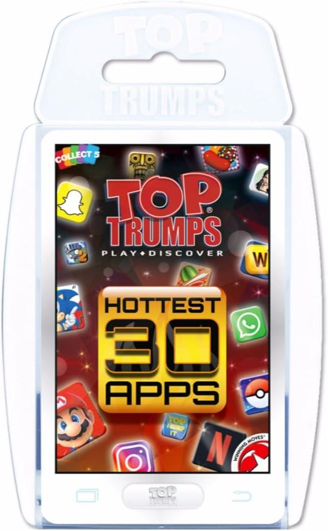 Top Trumps 002073 Juego de Cartas más Caliente de 30 Aplicaciones