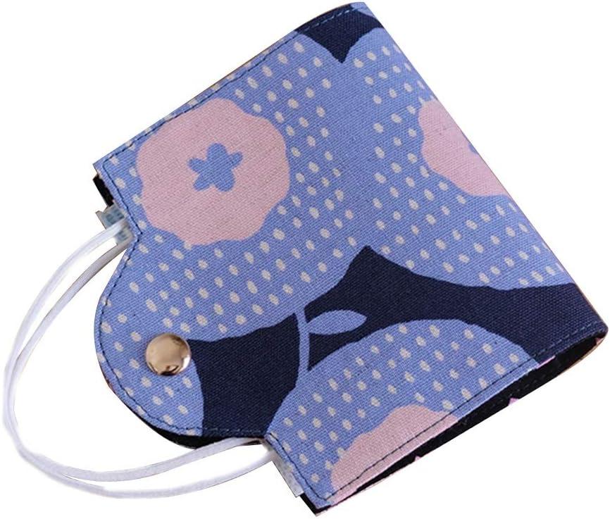 Caja de máscara Clip Tela Cara Cubierta de protección for Adultos Polvo Multiusos Bolsa Puede ser reutilizada Cubierta de la Cara Bolsa de Almacenamiento (Color : Blue Pink)