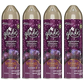 Glade Air Freshener Spray - Holiday Collection 2018 - Sugarplum Fantasies - Net Wt. 8 OZ (227 g) Per Can - Pack of 4 Cans