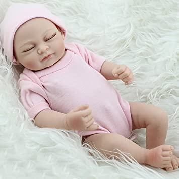 Amazon Com 10 Full Silicone Body Reborn Doll With Girl Parts
