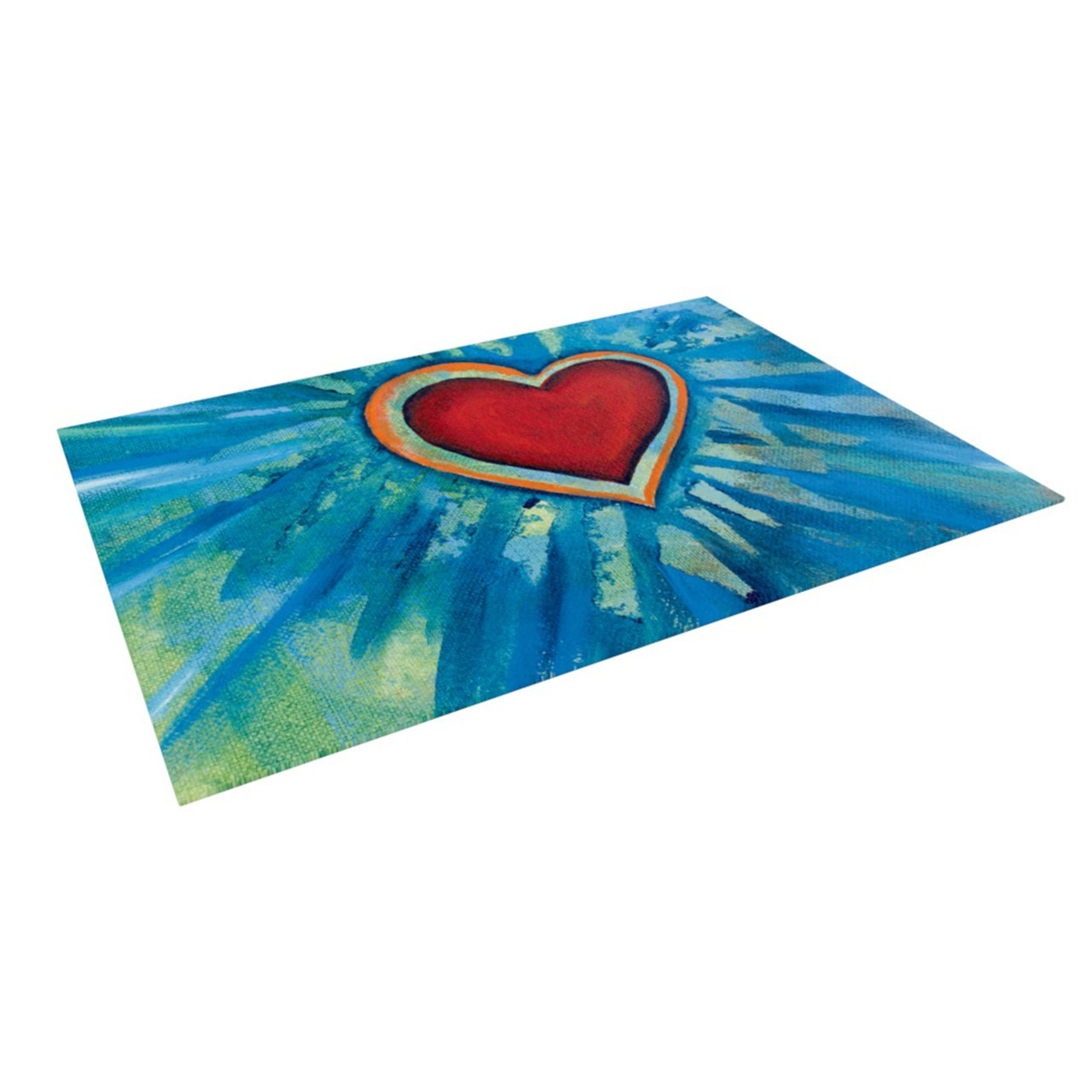 Kess InHouse Padgett Mason ''Love Shines On'' Indoor/Outdoor Floor Mat, 4-Feet by 5-Feet