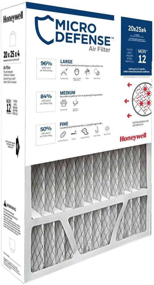 Honeywell CF200A1016 4-Inch Ultra Efficiency Air Cleaner Filter 20 x 25 x 4 Inches (Renewed)
