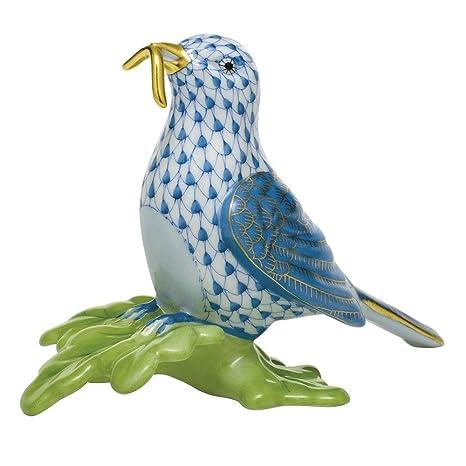 Amazon.com: Herend Early Bird Gets The Worm Figurine Blue ...