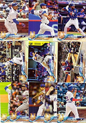 2018 Topps Series 1 New York Mets Baseball Card Team Set - 11 Card Set - Includes Yoenis Cespedes, Michael Conforto, Amed Rosario Rookie Card, Matt Harvey, and more!