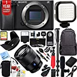 Sony a6500 4K Alpha Mirrorless Camera with 24-70mm F4 ZA OSS Lens Complete Photographer & Mobile Video Bundle