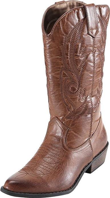 SimpleC Stivali da Cowboy Stivali Western Donna  Amazon.it  Scarpe e ... 73b289fb7213
