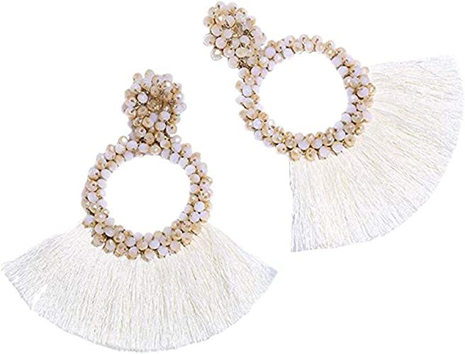 Worry-Free 14K Gold Plated Long Big-Small Pearl Dangle Drop Temperament Earrings