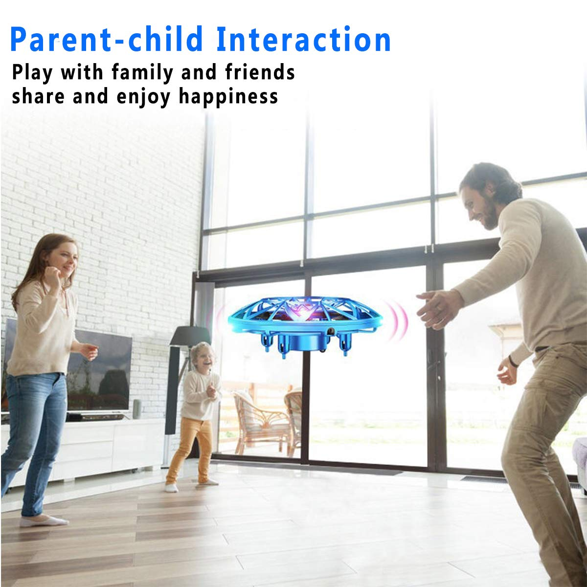 Flying Toy Ball Rc Toys Induction Flying Toy Mini Drones Helicopter Airplane with LED Lights Hand & Remote Controlled for 3+ Kids Girls Boys Indoor and Outdoor Gifts for Birthday (Flying Ball UFO) by HDsuit (Image #7)