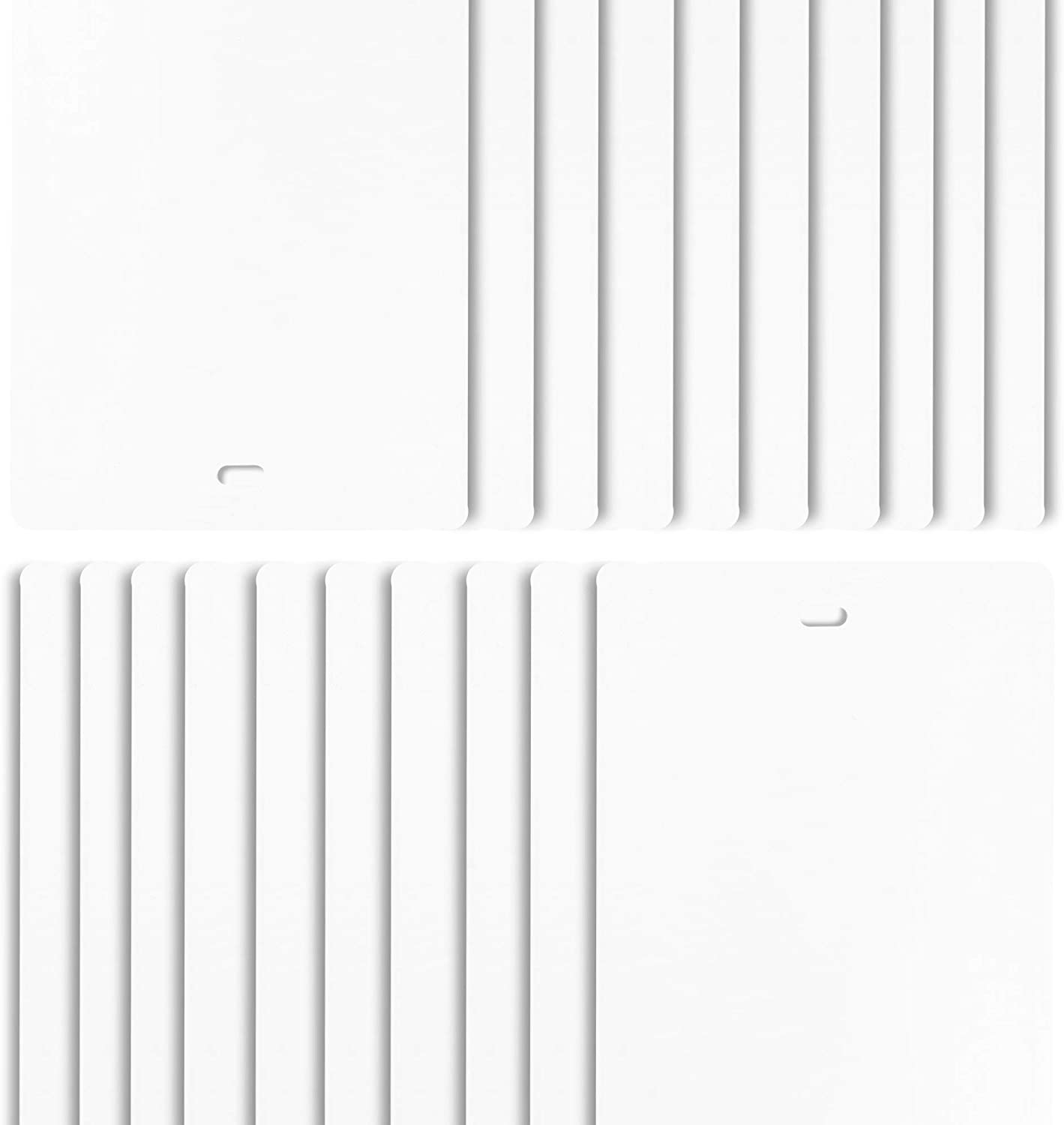 DALIX PVC Vertical Blind Replacement Slats Curved Smooth White 52.5 x 3.5 (20-Pack)