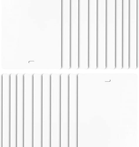 DALIX PVC Vertical Blind Replacement Slats Curved Smooth White 58.5 x 3.5 20-Pack
