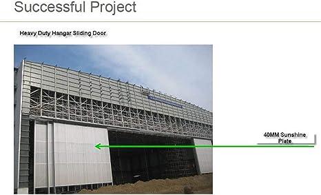 NGDOLL - Puerta de garaje de cristal deslizante automático, hoja de policarbonato, puerta de garaje, se utiliza en el almacén del aeropuerto: Amazon.es: Bricolaje y herramientas