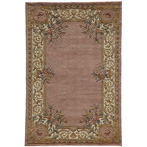 Momeni Rugs HARMOHA-07RSE80B0 Harmony Collection, Traditional Area Rug, 8' x 11', Rose Red