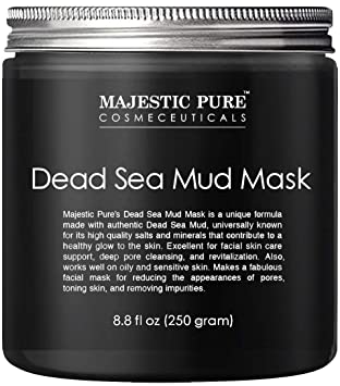 2feb135571d Dead Sea Mud Mask from Majestic Pure, Spa's Premium Quality Facial  Cleanser, ...