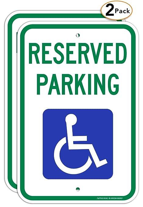 Amazon.com: Señal de aparcamiento reservada para ...