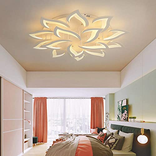 Modern LED White Acrylic Ceiling Lamp 10 5 Petals Ceiling Lamp Living Room Bedroom Ceiling Lamp Chandelier Lighting Fixture Suitable