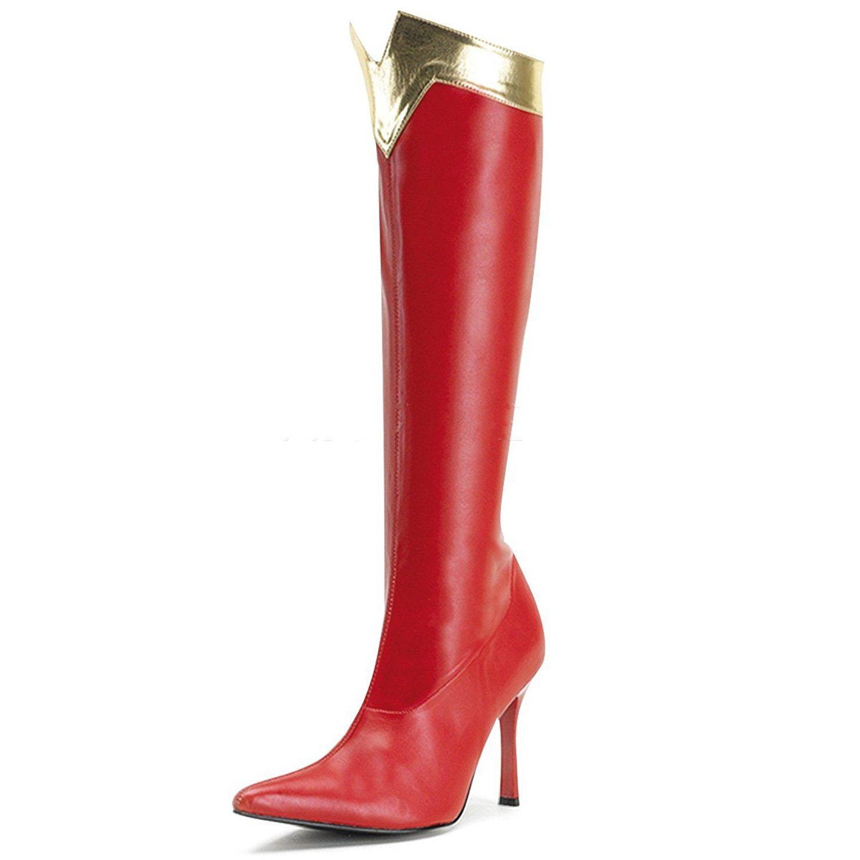 Higher-Heels Funtasma Stiefel für Wonderwoman Wonder-130 Lack Rot/Gold