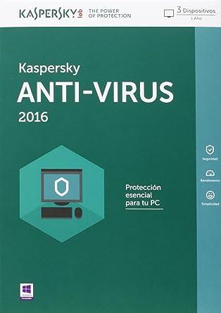 Kaspersky 2016 - Antivirus, 3 Usuarios, Base: Amazon.es: Software