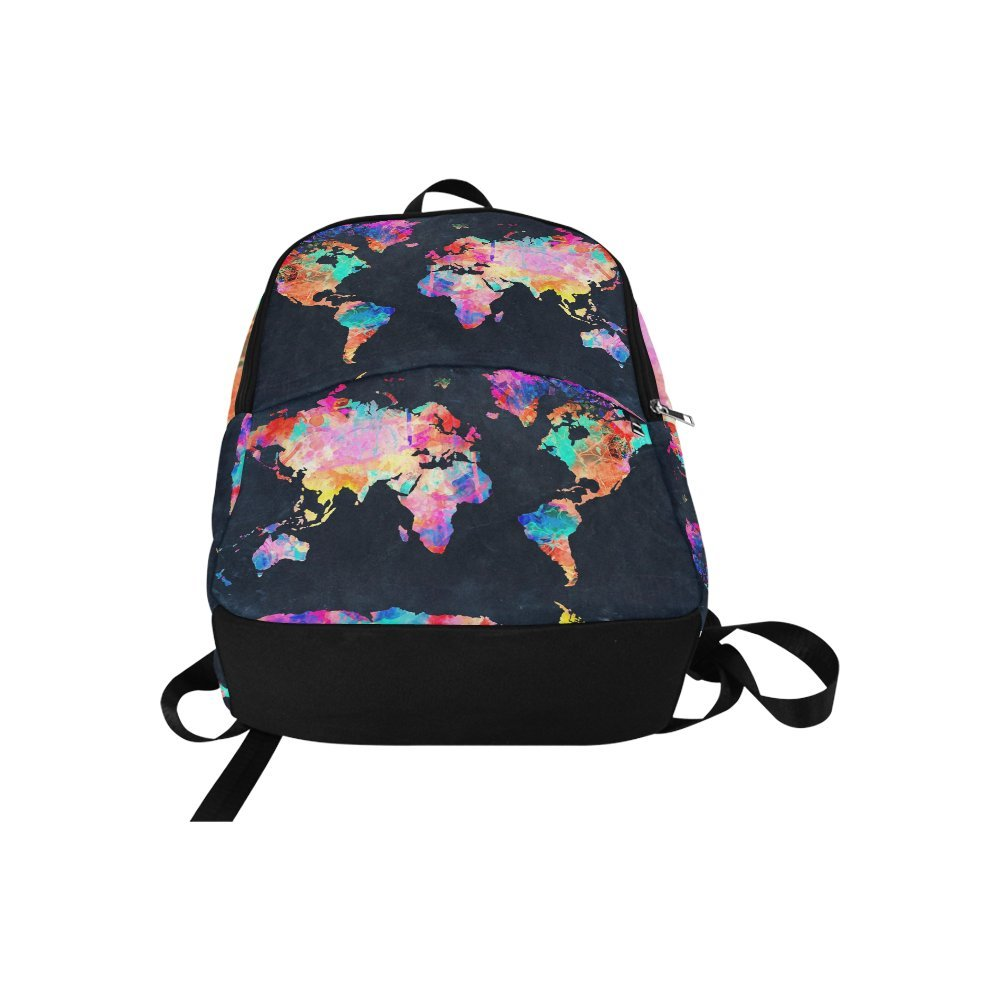 Love Nature Custom World Map Laptop Backpack Adult Casual Back Pack College Travel Backpack Bag Satchel Bookbag for Women and Men by Love Nature (Image #2)