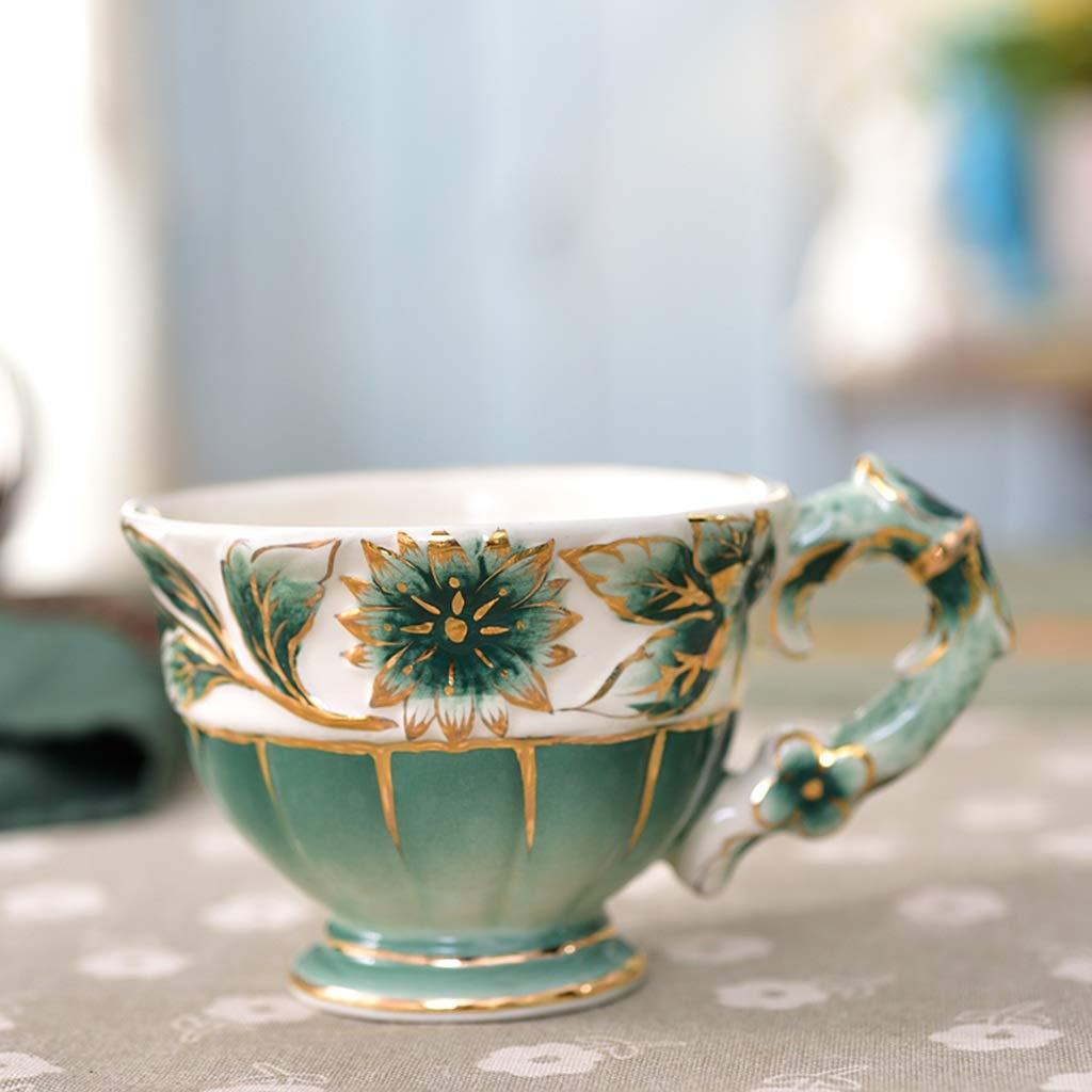 CSQ Coffee Cup Afternoon Tea Set, Ceramic Coffee Pot Household Eight-Piece Tea Set Scented Tea Teapot Capacity: 1050ml Afternoon Tea (Color : Green) by Tea set-CSQ (Image #5)