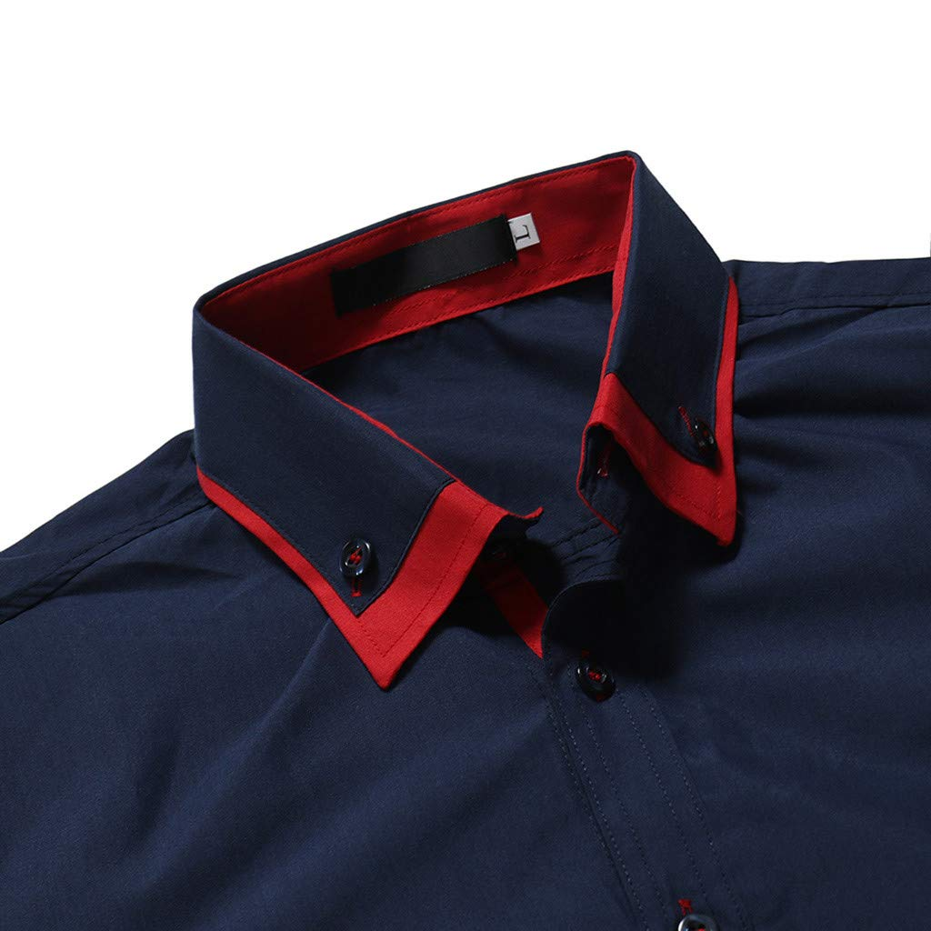 mens Solid Slim fit Short Sleeve Button Down Casual Dress Shirt STORTO