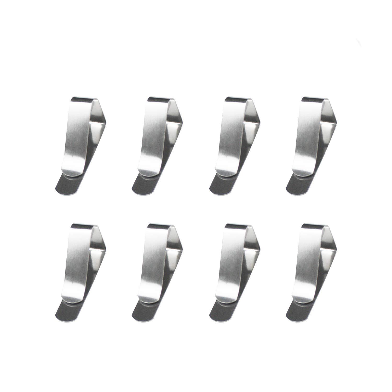 Boocy 8PCS fermatovaglia in acciaio INOX tovaglia copertura morsetti clip set, small