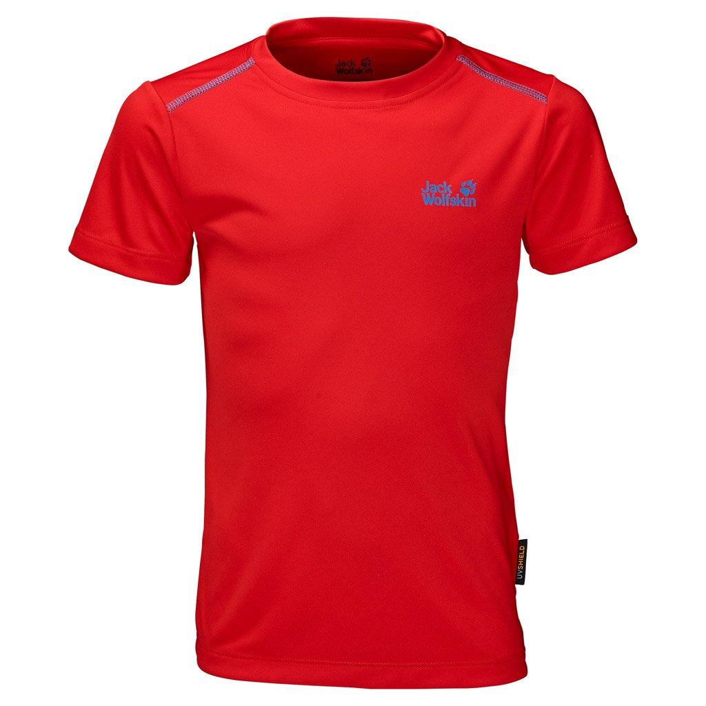 Jack Wolfskin Boy's Shoreline T-Shirt, Fiery Red, Size 92 (18-24 Months Old) by Jack Wolfskin