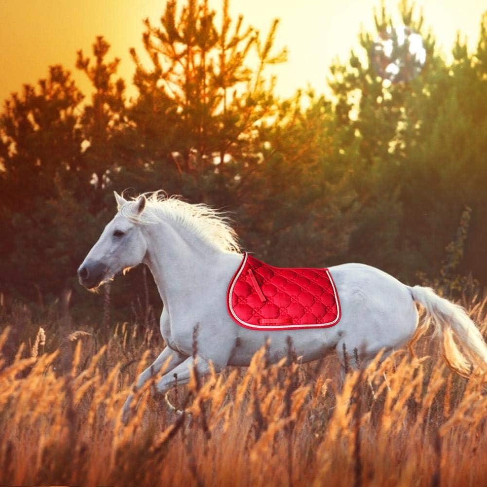 Createjia Tapis de Selle Corde,Equestrian Tapis de Selle,Tapis d/équitation /équestre sans Dos Respirant Absorbant la Transpiration /Équipement d/équitation de Saut /à Cheval 69x52cm