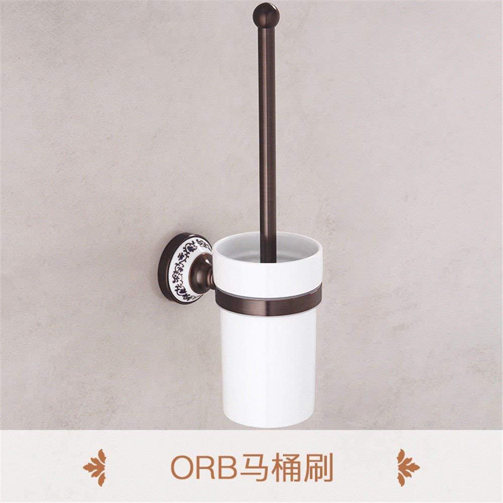 Feitengdaye トイレットペーパーの銅ブラウンバスタオルラックタオルバーバスルームアンティーク装飾品パック (Color : Toilet Brush) B07RSYPB7Z Toilet Brush