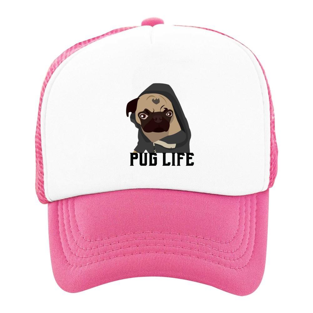Kids Baseball Cap Cool Pug Life Classic Mesh Outdoor Hat