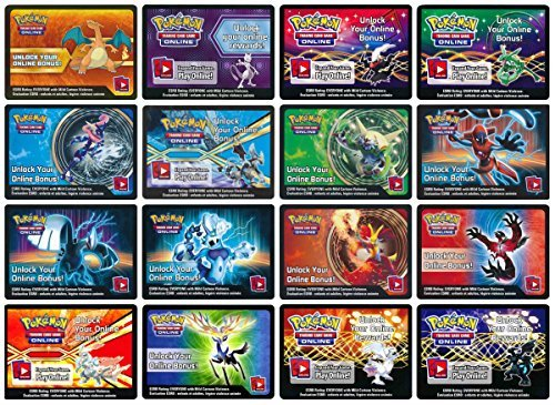 Pokemon 10 EX Code Cards (from Tin or Box) (at Least 5 Unique Ones!) (Pokemon Chesnaught Figure)