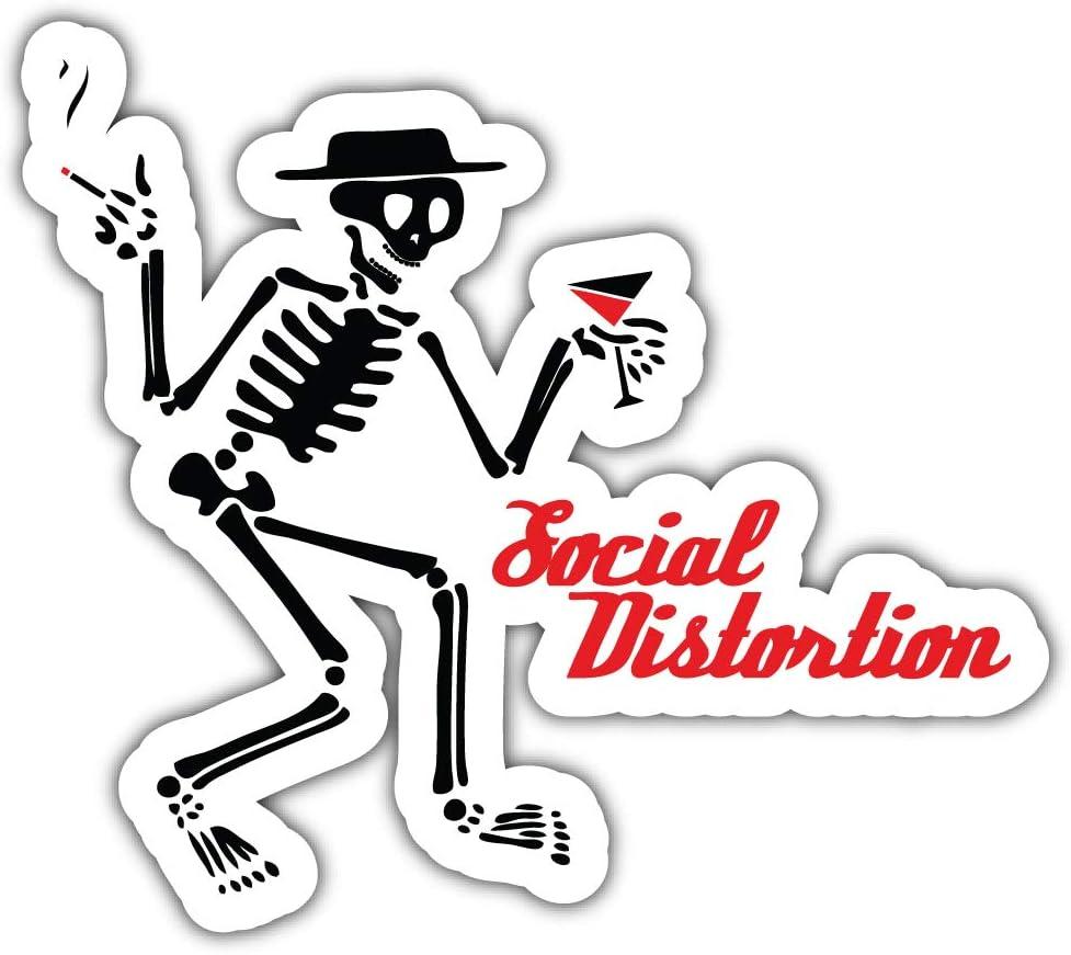 Social Distortion Logo Sticker Car Bumper Decal 5 X 4