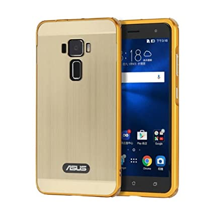 detailed look bca01 8be5e MYLB Asus ZenFone 3 ZE520KL Case, Luxury Metal Frame + Hard Back Case 2 in  1 Cover Ultra-Thin Frame Case for Asus ZenFone 3 ZE520KL Smartphone (Gold)