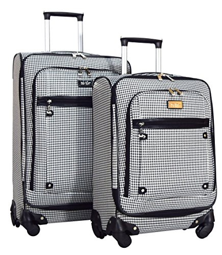 Luggage Sets Plaid (Nicole Miller New York Taylor 2-Piece Luggage Set: 24