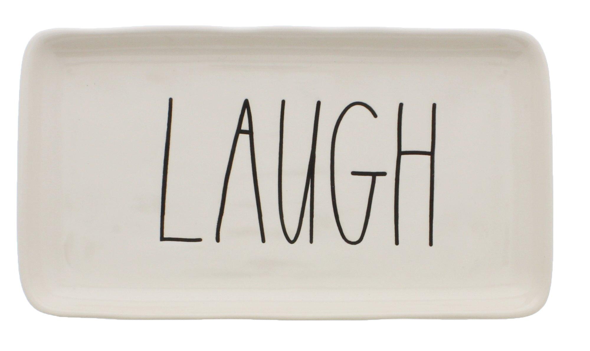 Rae Dunn by Magenta Ceramic LAUGH LL Tray by Rae Dunn
