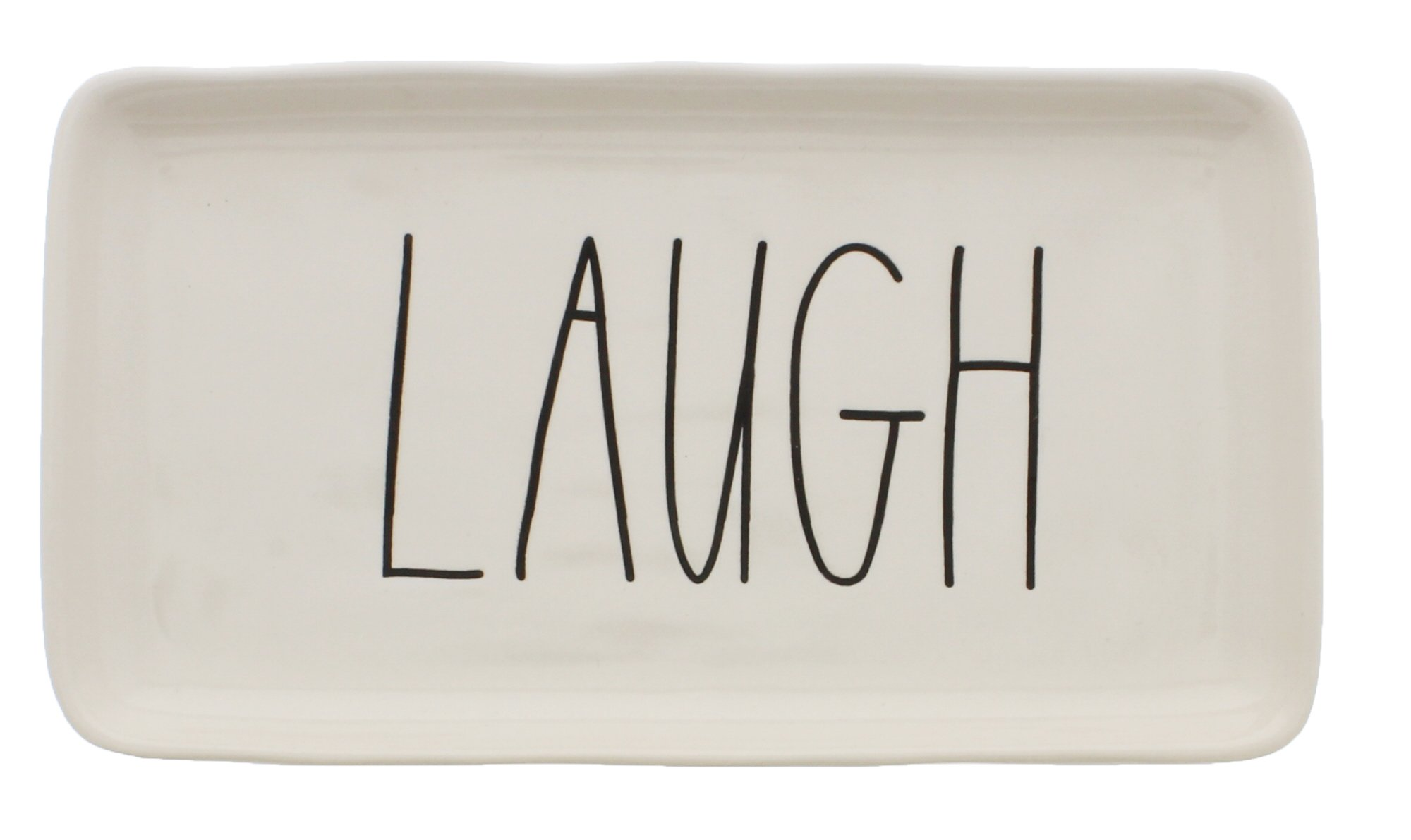 Rae Dunn by Magenta Ceramic LAUGH LL Tray
