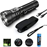 WUBEN A21 4200 Lumens High-powe Flashlight LED Rechargeable Torch Light Waterproof Torchlight 7 Modes(21700 Battery Included)