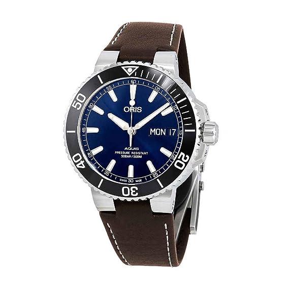 Oris Aquis Big Day - Reloj para Hombre con Esfera Azul automática 01 752 7733 4135-07 5 24 10EB: Amazon.es: Relojes