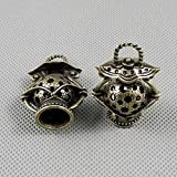 1 PCS Jewelry Making Charms Findings Supply Supplies Crafting Lots Bulk Wholesale Antique Bronze Tone Plated 96712 Hollow Lantern