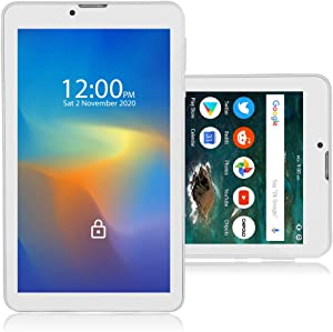 Indigi 7.0-inch Tablet PC 4G LTE Wireless Smart Cell Phone WiFi GSM Factory Unlocked (White)