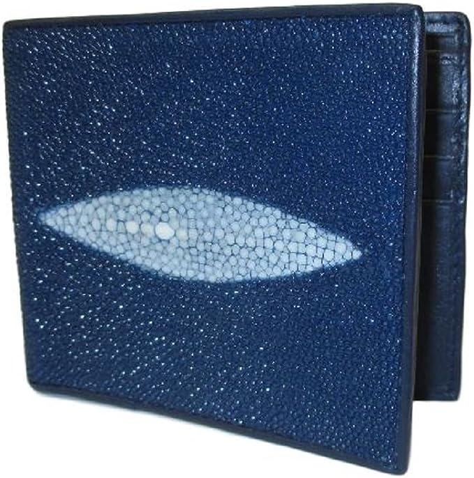 Genuine Stingray Wallets Skin Leather Bifold Money Clip Black Blue Men/'s Wallets
