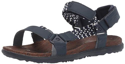 92d1ea3d209d Merrell Women s Around Town Sunvue Woven Flat Sandals  Amazon.ca ...