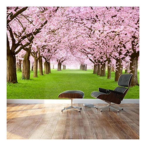 - wall26 - Beautiful Cherry Blossom Trees - Landscape - Wall Mural, Removable Sticker, Home Decor - 100x144 inches