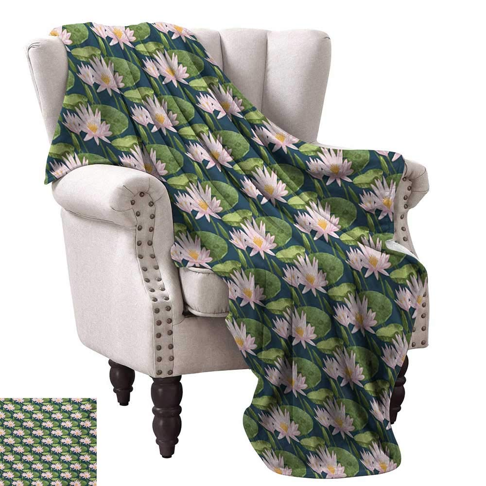 color06 60 Wx60 L WinfreyDecor Lily Blanket Sheets colorful Wreath Design with Foliage Leaf Celebratory Girl Name Classic Nature Pattern Home, Couch, Outdoor, Travel Use 60  Wx60 L Multicolor