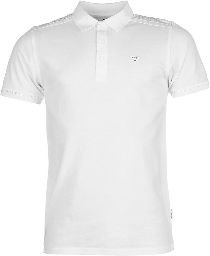Soviet Hombre Hombro Panel Polo Camisa Camiseta Ropa Vestir Casual ...