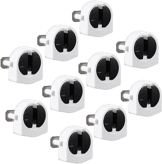 Portal/ámparas E27 con Interruptor Base L/ámpara Enchufe de EU bombillas Convertidor Adaptador 360/° direcci/ón Ajustable de Enchufes 4PCS
