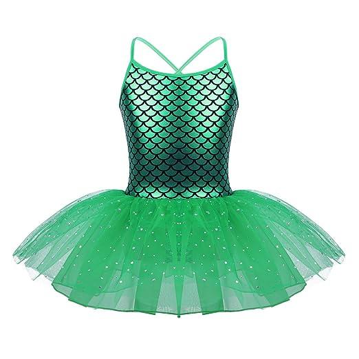 70a80c328 Amazon.com  iiniim Girls Sequined Mermaid Scales Ballet Tutu Dress ...