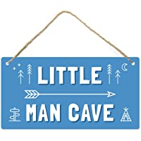 Little Man Cave, Toddler Boy Room Decor, 12″x6″ PVC Plastic Decoration Hanging Sign, High Precision Printing, Water…