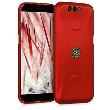 kwmobile Funda para Xiaomi Black Shark - Carcasa móvil de Silicona Flexible - Protector Trasero en Rojo Oscuro Metalizado